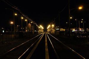 Transit at Midnight I by gregpessphotography