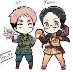 Jean and Marco cross over with hetalia by dark-freckled-marco