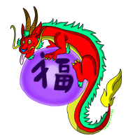 Tshirt2 Good Fortune Dragon by valkdaombras