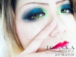 Green smokey eye. by Jounka