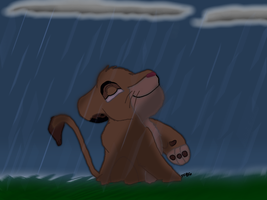 Simba in the Rain by SciFiBeatlesGleek