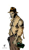 Wolverine as Indiana Jones by RichardGrayson