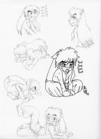 InuYasha's Alone Time Poses by AGirlCalledFred