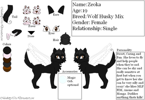 .:New Fursona Zeoka Ref:. by minikitty1516