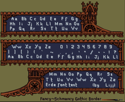 Erde Dialogue Border/ Pixel Text by Lijj