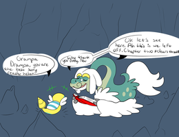Grampa Drampa's story time with Dunsparce