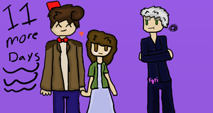11th Doctor Clara and 12th Dcotor Day 11 by Fgpinky123