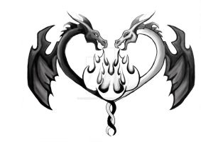 Duel Dragon Tattoo by cheshire-cat-19