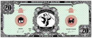 Monopoly bank note 20 poly by ironic440