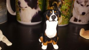 Bernese mountain dog figurine by Akitas237collections