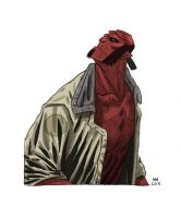 Hellboy Watercolor by Andrew-Ross-MacLean