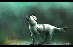 Raindrops are falling on my head! by Capukat