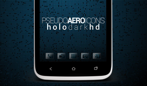Pseudo Aero Icons (Holo Dark HD) by sabret00the
