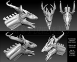 Flutehorn Dragon - Concept Bust by LeccathuFurvicael