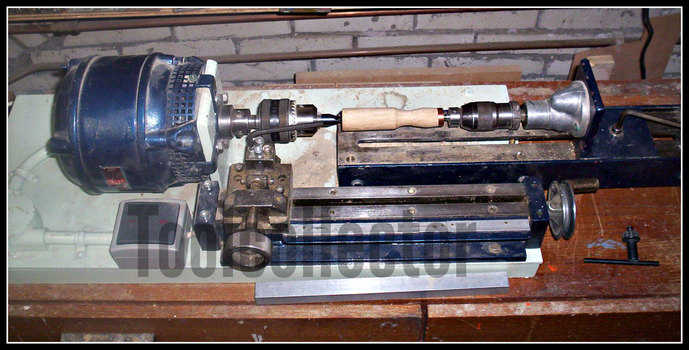 Home made wood lathe by toolcollector