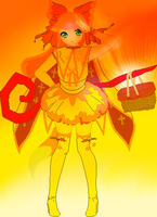 Ariel's alternate sun witch outfit by sitaliar