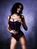 The Velvet Touch Purple Corset by Afina79