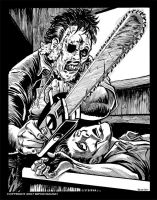 Leatherface in BandW by BryanBaugh