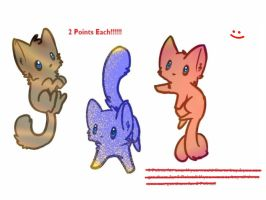 Kitty Adoptables by Julia-adopts