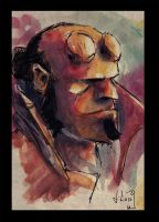 Hellboy sketch by Batawp