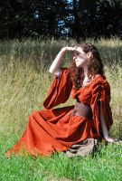 Sadb medieval gown by Lorliaswood