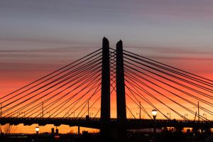 tilikum crossing at sunrise 2 by ringmale