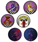 FNAF Buttons by dragonsong12