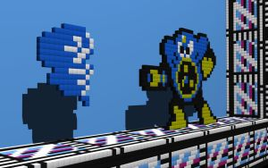 Airman vs Megaman 1 by 8-bit-Anon
