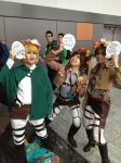 Speech Bubbles XD (AOT cosplayers) by OxideTheShadow