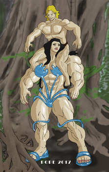 Toric And Neijia By Hulkdaddyg-dbagwwh by ToricTheAmazonRider