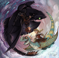 HTTYD 2 Night and Day by sharkie19