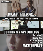 EXO APPRECIATING HIS MASTERPIECE @DiannEXOstan267 by Claire0267