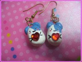 Hamster Earrings by Hikoro
