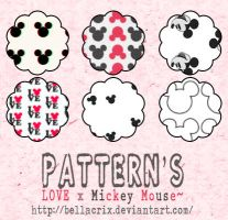 Love x Mickey Mouse Pattern's by Bellacrix