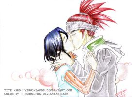 renji and rukia by normalfds