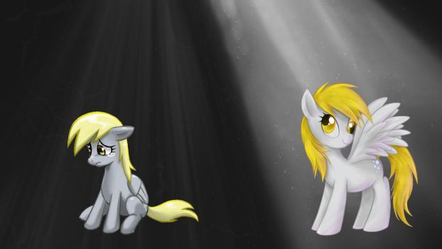 Two faces of derpy by drbeepboop