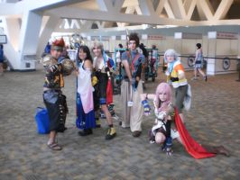 Final Fantasy/Kingdom Hearts group shot by Dark-Fenrir8224