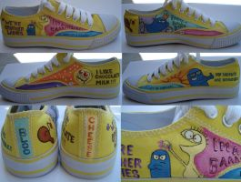 Shoe Art - Bloo Cheese by tenpieces