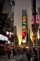 Times Square Blue Hour by picstuff
