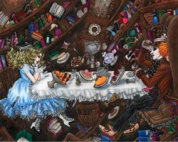 Tea Party Down the Rabbit Hole by MaliciousMisery