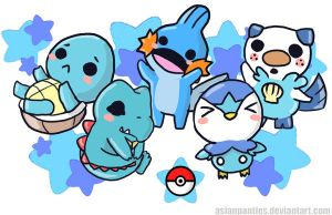 Pokemon Water Mini Print by AsianPanties