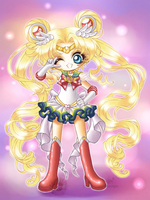 Chibi Super Sailor Moon by ChildOfMoonlight