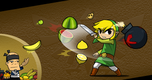 The Hylian Fruit Ninja by swordxdolphin