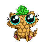 Funny kitten adoptable pineapple by kingzoidlord by KingZoidLord