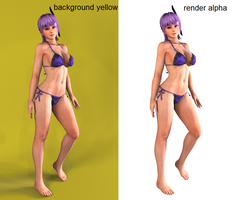 Ayane hot getaway RENDERS by Dizzy-XD
