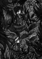 A Dark Angel In The Loneliness by mizzrammstein