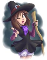 Caroline the Cheerful Witch by falingard