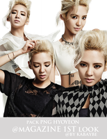 Pack PNG Hyoyeon @Magazine 1st Look By Kabaybe by Kabaybe
