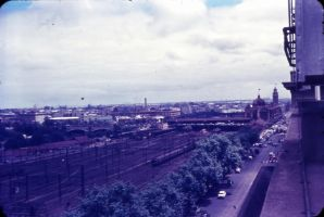 Jolimont rail yard 1950s by otherunicorn-stock