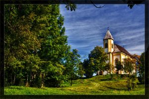 Pilgrimage church Ettenberg by deaconfrost78